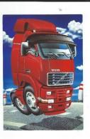 CPM Camion Volvo Rouge Mecanic   Toile Tellier Voiture De Course Neuve TBE Collector 11/193 Autocartoon - Postales