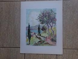 Italiaans Landschap Door G. Galbiati - Lithographies