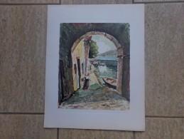 Italiaans Poortuitzicht Door G. Galbiati - Lithographies