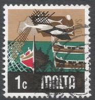 Malta. 1973 Definitives. 1c Used. SG 490 - Malta
