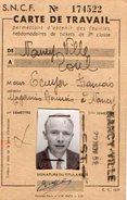 VP5695 - S.N.C.F - Carte De Travail Avec Photo - NANCY à TOUL - Mr F. ECUYER - Abonnements Hebdomadaires & Mensuels