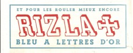Buvard RIZLA La Croix Et Pour Les Rouler Mieux Encore Bleu à Lettres D'Or - Tabac & Cigarettes