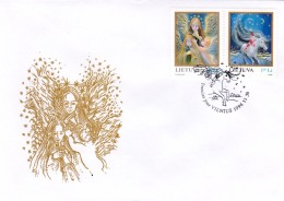 Litauen, 1996, 625/26, Weihnachten. FDC - Lithuania
