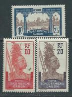 Gabon  N° 37 / 39  X Légende  Congo Français-Gabon : Les 3 Valeurs Trace De Charnière Sinon TB - Gabon (1886-1936)