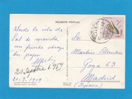 CARTE POSTALE DU CAP VERT POUR L'ESPAGNE. - Kap Verde
