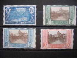 Océanie  1927/ 1930  Timbres Neufs * Bon état N°75 à 78    Côte 93.50 € - Oceania (1892-1958)