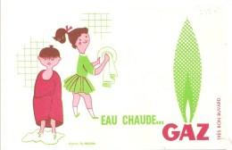 Buvard. GAZ Eau Chaude GAZ - Electricité & Gaz