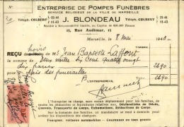 Thématique « POMPES FUNEBRES » - Document Commercial (petit Format) à Entête De Lettre – A Voir - N° 19018 - Petits Métiers