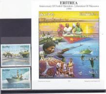 Stamps ERITREA 2004 SC 377-379 LIBRATION OF MASSAWA MNH SET ER#19 LOOK - Eritrea