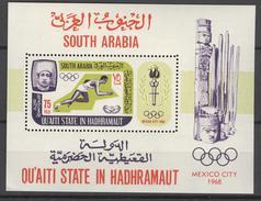 QU'AITI STATE - BLOK MI 7A Xx GETAND - COTE 12,00 EURO - OLYMPIC GAMES MEXICO 1968 + FLAME - SEE SCAN - NR1 - Autres - Asie
