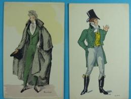 Lot De 17 Cartes Postales Histoire Du Costume Français (10) - Illustrateurs & Photographes