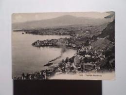 POSCARD & STAMP YEAR 1909 SWITZERLAND SCHWEIZ SUISSE TERRITET MONTREUX - VD Waadt