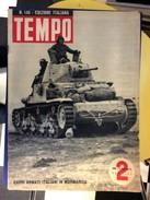 TEMPO EDIZIONE ITALIANA MILITARY   MILITARIA WWII  1942.  No.. 145 - Bücher, Zeitschriften, Comics
