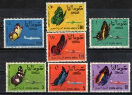 SOMALIA - 1961 - FARFALLE - BUTTEFLIES - POSTA AEREA - NUOVI MNH - Somalia (1960-...)