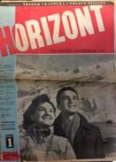 HORIZONT   MAGAZINE  MILITARY   MILITARIA WWII.  1951.  No. 1 - Bücher, Zeitschriften, Comics