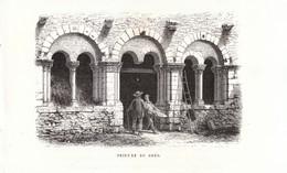 1869 - Gravure Sur Bois -  Azay-sur-Cher (Indre-et-Loire) - Le Prieuré De Grès -  FRANCO DE PORT - Stampe & Incisioni