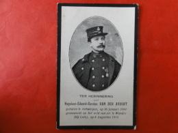Doodsprentje WW1, WO1, Napoleon Van Der Avoort, Geboren Antwerpen 1884, Gesneuveld Te Wandre 1914 - Images Religieuses