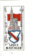 Rare Ex Libris Louis MAECHLER Cathédrale De Strasbourg - Ex-libris