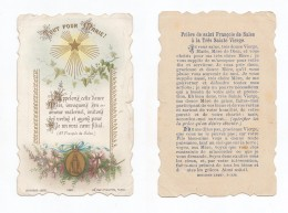 Tout Pour Marie ! Prière De Saint François De Sales à La Très Sainte Vierge, Bouasse-Lebel N° 1220 - Devotion Images