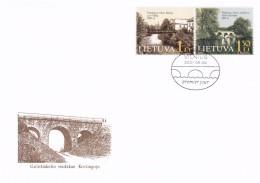 Litauen, 2001, 760/61, Technische Denkmäler (I): Brücken.  FDC - Lithuania