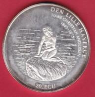Danemark - 20 Ecus 1995 - Argent - Denmark