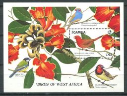 177 GAMBIE 1989 - Yvert BF 65 - Oiseau Fleur - Neuf ** (MNH) Sans Charniere - Gambie (1965-...)
