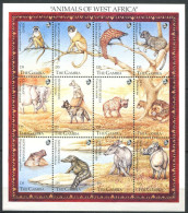 177 GAMBIE 1993 - Yvert 1299/310 - Singe Felin Croco Hyppo Elephant - Neuf ** (MNH) Sans Charniere - Gambie (1965-...)