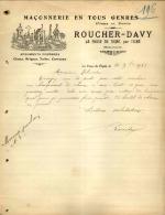 Thématique « POMPES FUNEBRES » - Document Commercial à Entête De Lettre - A Voir – Détaillons Belle Collection  - 19132 - Petits Métiers