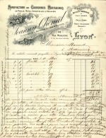 Thématique « POMPES FUNEBRES » - Document Commercial à Entête De Lettre - A Voir – Détaillons Belle Collection  - 19135 - Petits Métiers