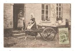 CPA  BELGIQUE Laitière Flamande Attelage Voiture à Chien - België