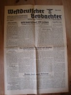 Westdeutscher Beobachter, Köln-Stadt, 19. Jahrgang, Nr. 493, Abend Ausgabe 27. Sept. 43, Imperialisus Wird Verstärkt - Zeitungen & Zeitschriften