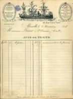 Thématique « POMPES FUNEBRES » - Document Commercial à Entête De Lettre - A Voir – Détaillons Belle Collection  - 19138 - Petits Métiers