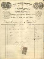 Thématique « POMPES FUNEBRES » - Document Commercial à Entête De Lettre - A Voir – Détaillons Belle Collection  - 19140 - Petits Métiers