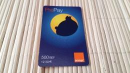 TinTin Phonecard Orange 500 BEF Used   Rare - Comics