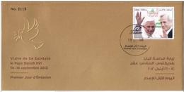 2012 - LIBANO / LEBANON - VISITA DEL PAPA / THE VISIT OF POPE. FDC - Libano