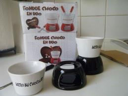 Fondue Choco En Duo Ceramique - Unclassified