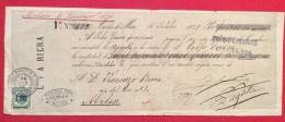 CAMBIALE PRIMA DI CAMBIO  DI 1311 FR In Oro  ARENS DE MAR 1869  CON AUTOGRAFI E MARCHE DA BOLLO - Cambiali