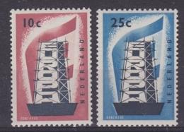Europa Cept 1956 Netherlands 2v ** Mnh (32737) - Europa-CEPT