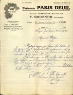 Thématique « POMPES FUNEBRES » - Document Commercial à Entête De Lettre - A Voir – Détaillons Belle Collection  - 19159 - Petits Métiers