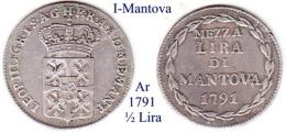 I-1791, 1/2 Lira, Mantova - Mantoue