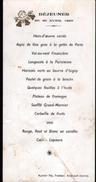 1956, MENU , AUCLAIR FILS, TRAITEUR, AMBRAULT ( INDRE), ANGELOT GAUFFRE - Menus