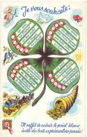 CP - Fantaisie Fantasie - Je Vous Souhaite - Trèfle à 4 Feuilles - Klavertje 4 - Phantasie