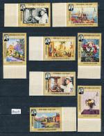 Kathiri States Of Seiyun Michel Nr. 91 – 98 B Ungezähnt Sondermarken Satz Sir Winston Churchill ++ Postfrisch