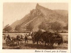 1927 - Héliogravure - Saint-Péray (Ardèche) - Les Ruines De Crussol - FRANCO DE PORT - Vieux Papiers