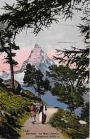 ZERMATT → Wandernde Frauen Mit Dem Matterhorn Im Vordergrund Anno 1914 - VS Wallis