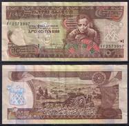 Banknote ETHIOPIA 10 Birr 2008 VF S/N FF2573997 - ETH#001 - Ethiopia