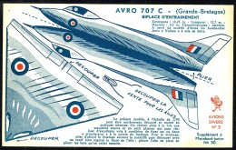Découpi Avion N° 3 Inséré Dans  MJ 30 - Avion AVRO 707 C (GB). - Livres, BD, Revues