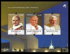 2010 - PORTOGALLO / PORTUGAL - VISITA DEL PAPA / THE VISIT OF POPE. MNH - 1910 - ... Repubblica