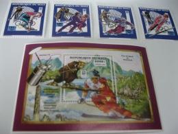 Mali-1994-Winter Olympics MI.1191-1194,BL.30 A - Winter 1994: Lillehammer