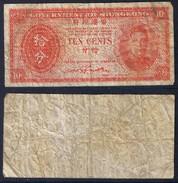 Banknote HONG KONG 10 Cents 1945 Poor S/N None - HKG#005 - Hong Kong